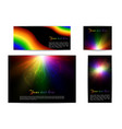 bright rainbow banners vector image