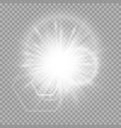 burning rays light effect vector image