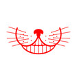 Cheshire cat smile animal alice in wonderland vector image