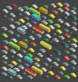 city horrendous traffic jams isometric projection vector image vector image