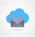 cloud mail trendy symbol trendy colored vector image vector image