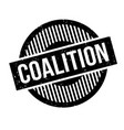 coalition rubber stamp vector image vector image