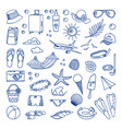 collection of beach and tropical themed vector image vector image