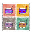 collection of flat shading style icons toy robot vector image vector image