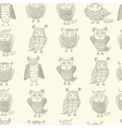 Cute cartoon owls pattern vector image vector image