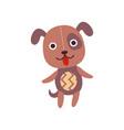 cute soft puppy plush toy stuffed cartoon dog vector image vector image