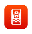 dictaphone icon digital red vector image vector image