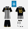 Football kit template for your sport club vector image vector image