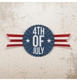 Fourth of July realistic Emblem vector image vector image
