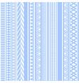 geometric seamless pattern blue vintage vector image