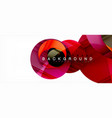 glossy colorful circles abstract background vector image vector image