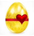 Golden egg with floral ornaments vector image