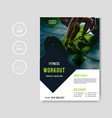 gym and fitness flyer template vector image vector image