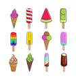 ice cream collection 5 vector image vector image