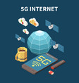 internet isometric concept vector image vector image