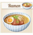 japanese ramen soup cartoon icon vector image vector image