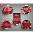 Labels for black friday vector image vector image
