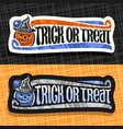 labels for halloween vector image vector image