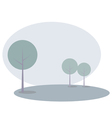 Landscape background with trees - modern in blue vector image vector image