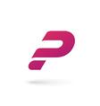 Letter P question mark logo icon design template