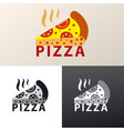 logo for pizzeria vector image vector image