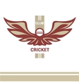 logo template cricket club vector image vector image