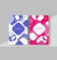 minimal cover design annual report magazine vector image vector image