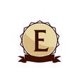 modern logo solution letter e vector image