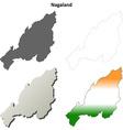 Nagaland blank detailed outline map set vector image vector image