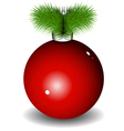 New Years ball vector image vector image