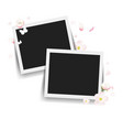 photo with flowers white background vector image vector image