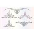 pinstriping ornaments set vector image vector image