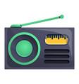 radio news icon cartoon style vector image vector image