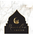 ramadan background with mosque silhouette on vector image vector image