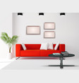 realistic interior image vector image