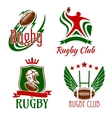 ruggame symbols for sporting design vector image vector image