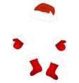 santa claus costume vector image vector image