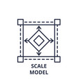 scale model line icon concept scale model vector image vector image
