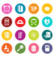 school education icons set colorful circles vector image