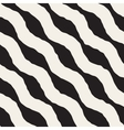 Seamless Black and White Hand Drawn Wavy vector image