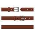 seamless brown leather belts set vector image vector image