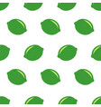 seamless pattern with limes fresh limes vector image vector image