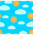 Seamless texture with clouds and sun vector image vector image