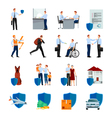 Services Of Insurance Company Icons Set vector image vector image