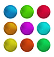 Set of empty glossy round multi-colored label that vector image vector image