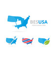 set of usa logo combination america and best vector image vector image