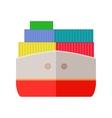 Ship Worldwide Warehouse Delivering Logistics vector image vector image