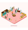 Shopping mall concept vector image vector image