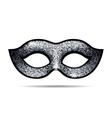 Silver shining carnival mask vector image vector image