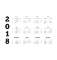 Simple calendar on 2018 year in french language vector image vector image